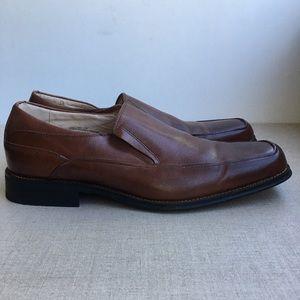 Florsheim Men US 11 Brown Leather Dress Shoes